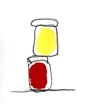 2009_sem titulo | 58x68 cm | tinta acrilica e bastao de oleo sore tela